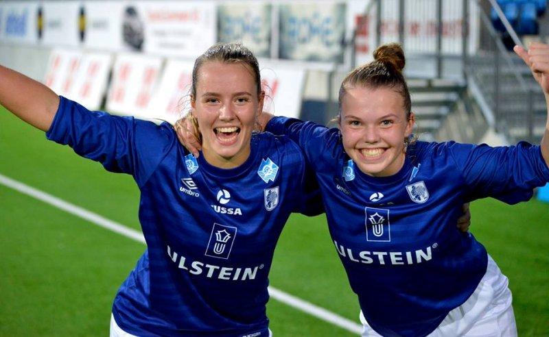 Marte Aarsand Vik og Therese Holstad (Damelaget)